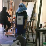 OKAY ARTIST in Painting Studio