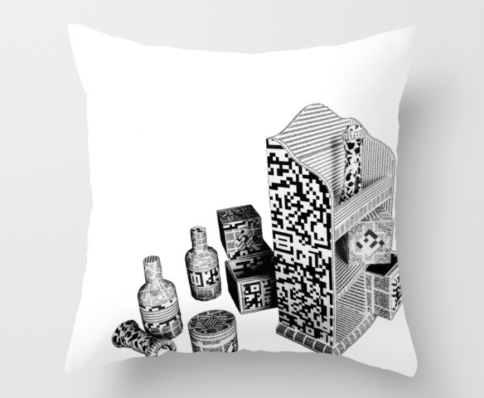 black-and-white-everyday-life-internet-of-things-pillows